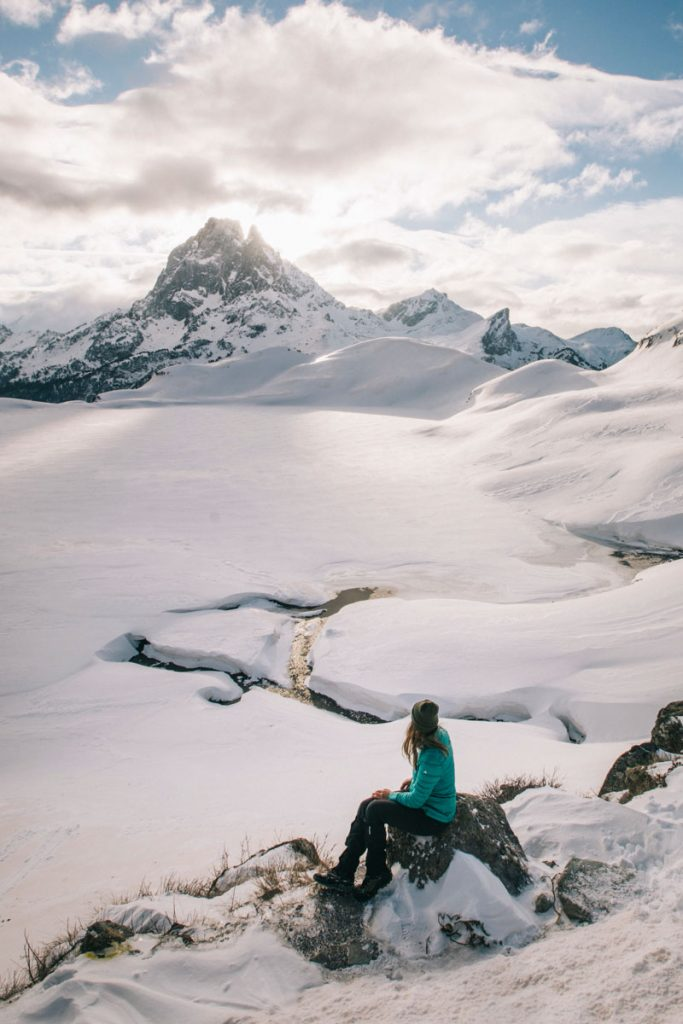 La vue sur le pic d'Ossau depuis le refuge d'Ayous. crédit photo : Clara Ferrand - blog WIldroad