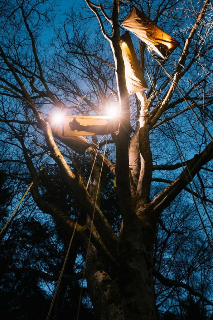 Dormir une nuit perché dans les arbres avec Hêtre en Forez. crédit photo : Clara Ferrand - blog Wildroad