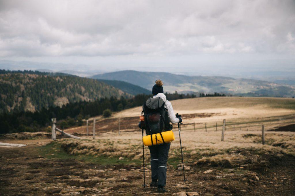 Le paysage des Hautes-Chaumes dans les monts du Forez. crédit photo : Clara Ferrand - blog Wildroad