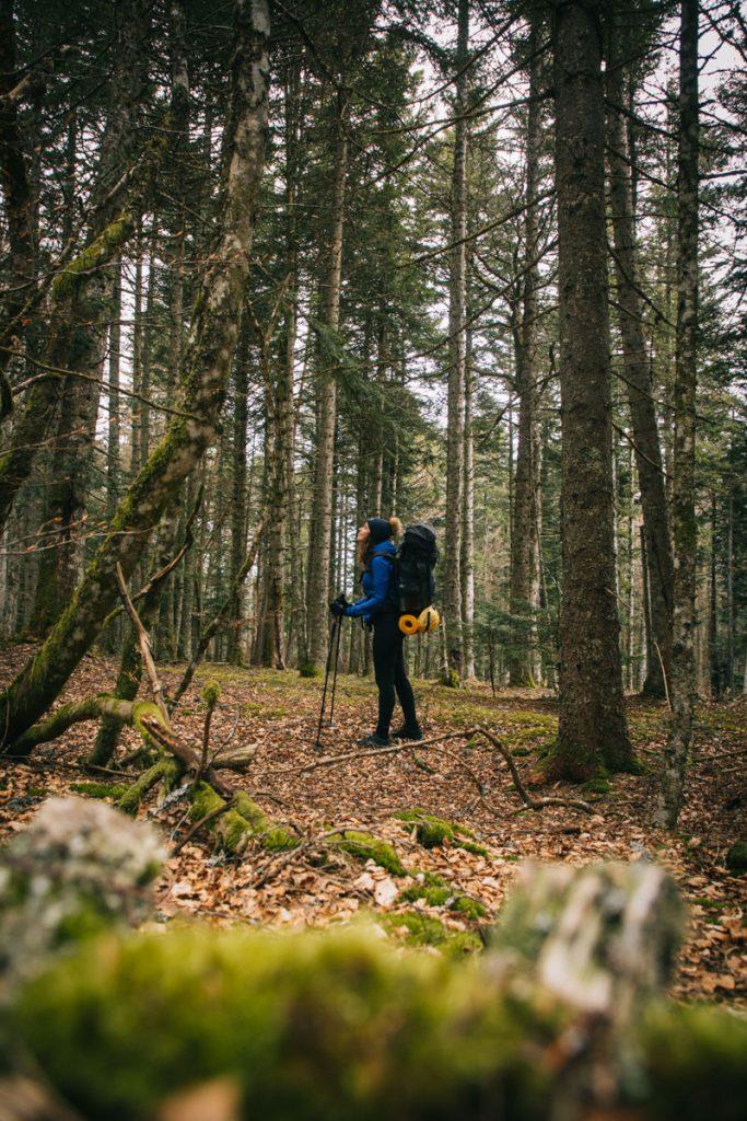 L'itinéraire du GR3 dans les monts du Forez sur 50 km. crédit photo : Clara Ferrand - blog Wildroad