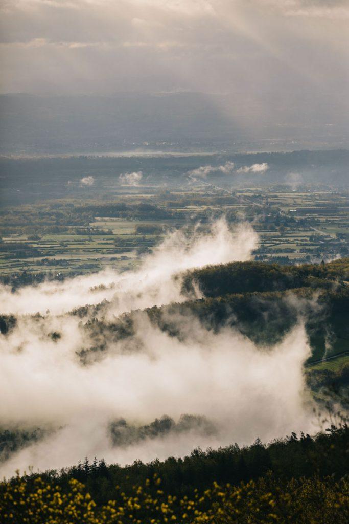 Point de vue depuis Palogneux aux orgues basaltiques. crédit photo : Clara Ferrand - blog Wildroad