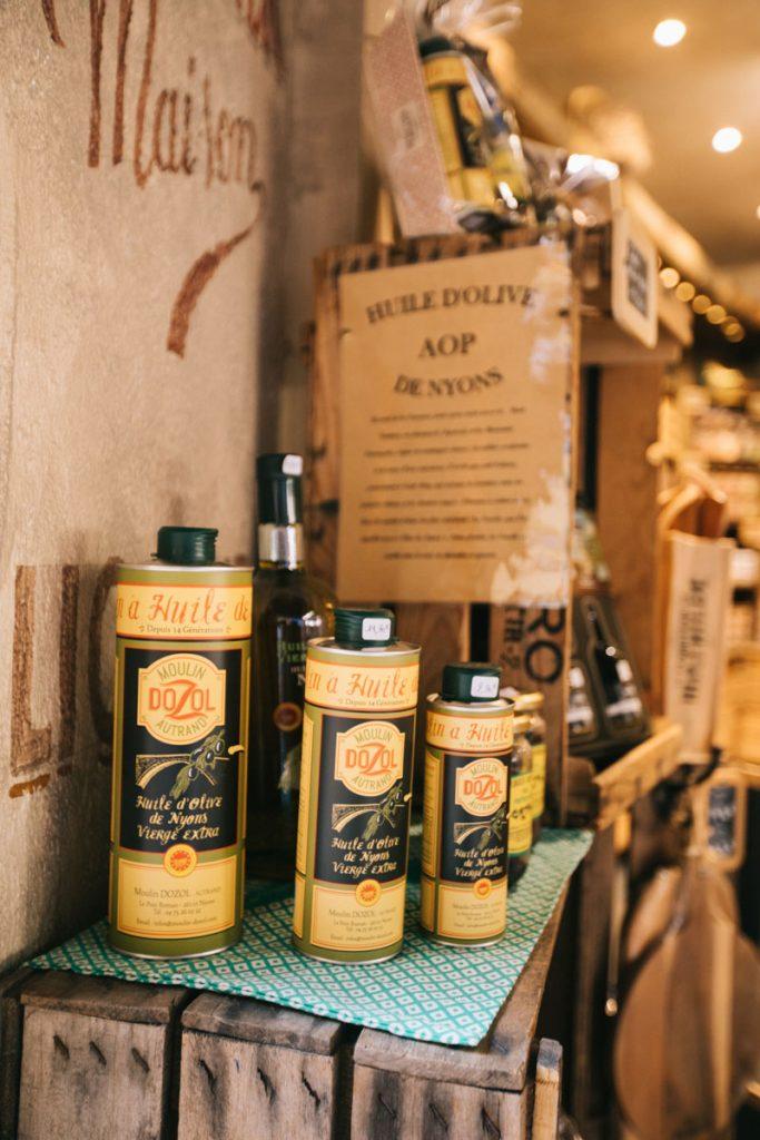 L'huile d'olive de Nyons. crédit photo : Clara Ferrand - blog Wildroad