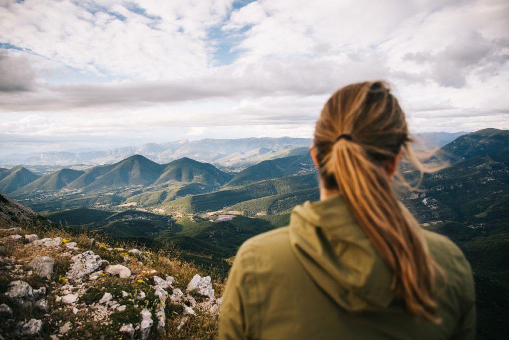 Le panorama sur les Baronnies Provençale depuis la montagne de la Lance. crédit photo : Clara Ferrand - blog Wildroad