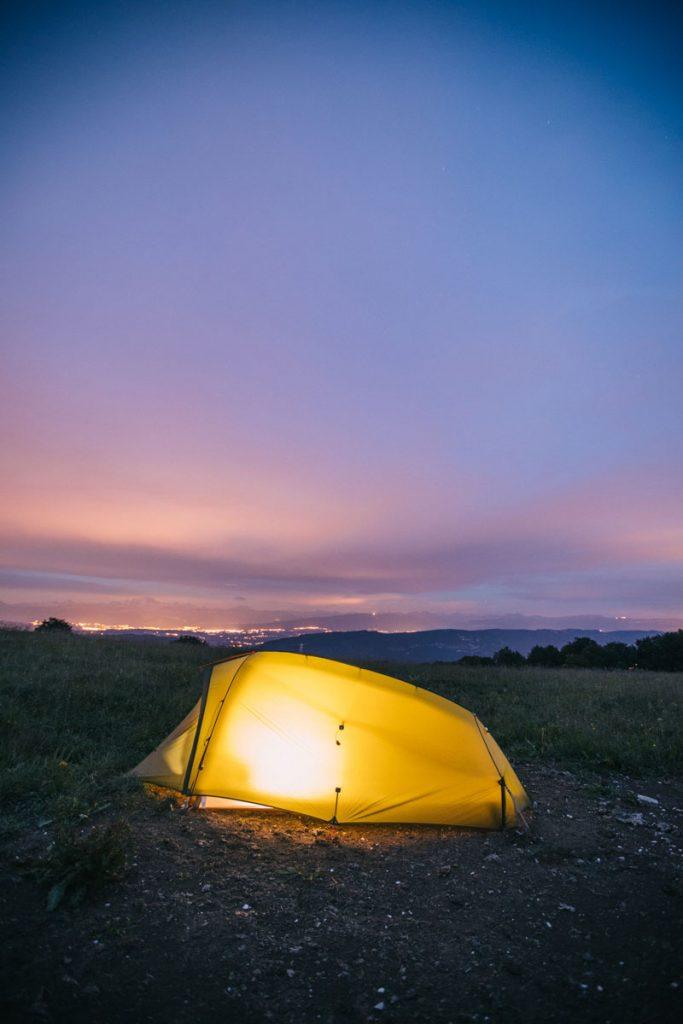 Les tentes Vaude pour faire du bivouac. crédit photo : Clara Ferrand - blog Wildroad
