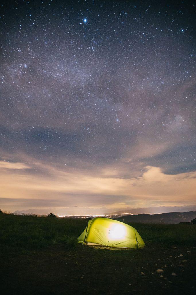 Atelier Astro bivouac avec Vaude. crédit photo : Clara Ferrand - blog Wildroad