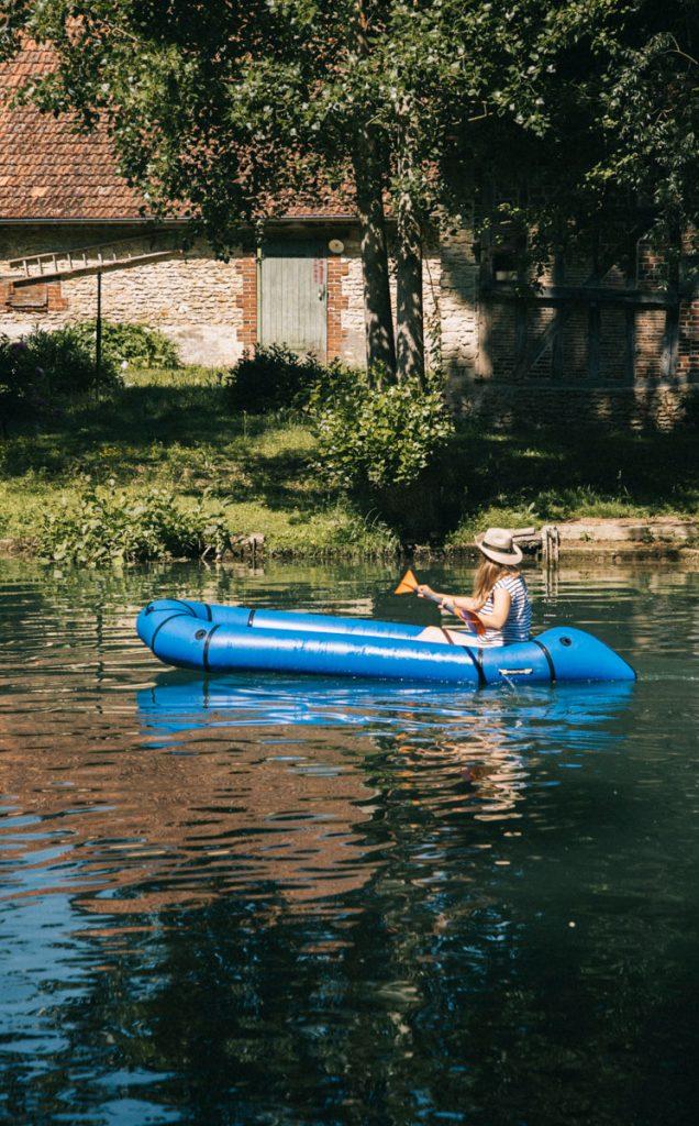 Descendre la seine en canoë depuis Chappe. crédit photo : Clara Ferrand - blog Wildroad