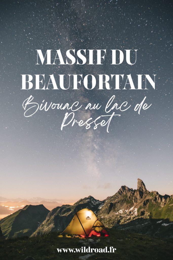 Randonnée bivouac dans le massif du Beaufortain : le lac de Presset incontournable en Savoie. crédit photo : Clara Ferrand - blog Wildroad #savoiemontblanc #savoie #bivouac #beaufortain #randonnee #france