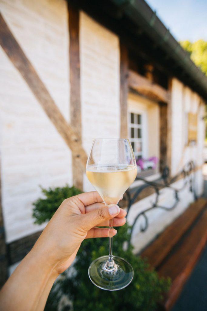 Dégustation de champagne dans l'Aube. crédit photo : Clara Ferrand - blog Wildroad