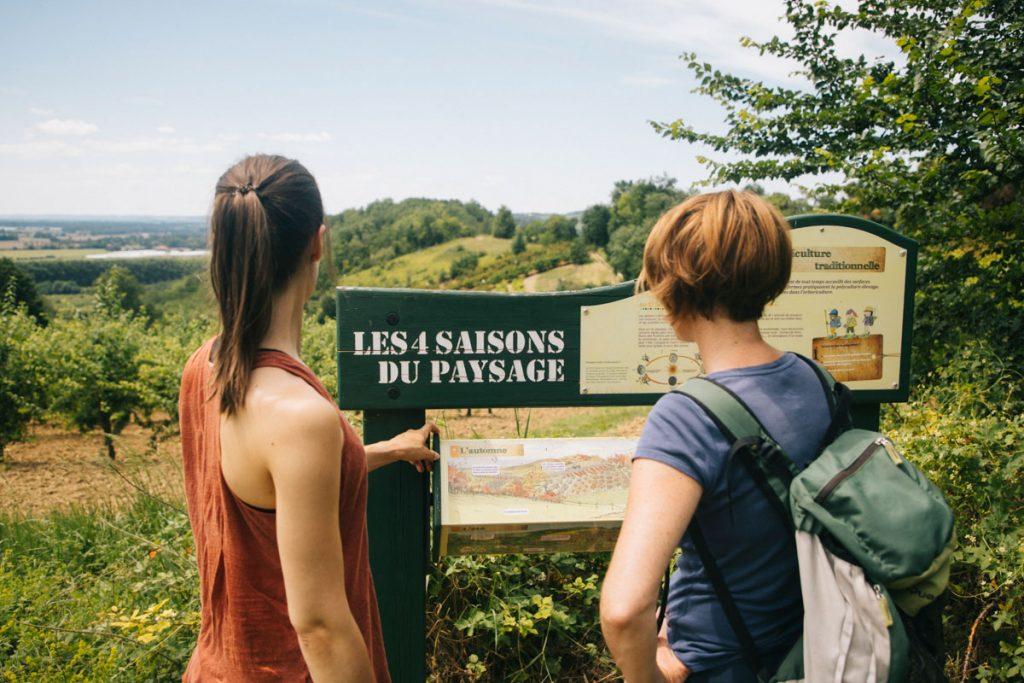 Sentier pédagogique à découvrir en famille dans le Tarn et Garonne. crédit photo : Clara Ferrand - blog Wildroad