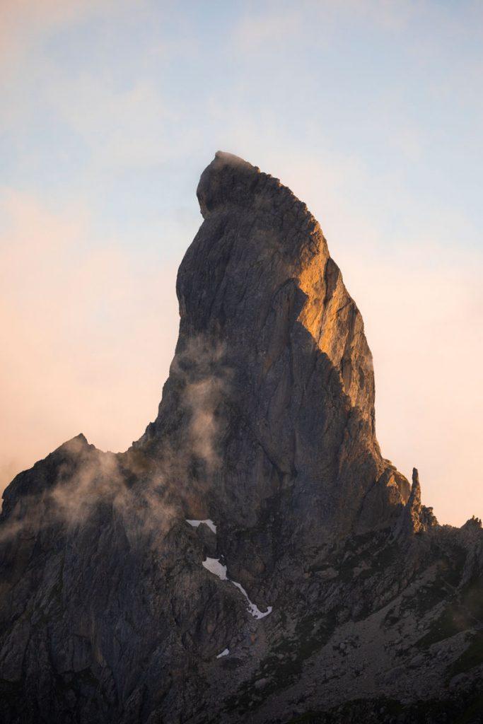 Le sommet de la Pierra Menta dans le beaufortain. crédit photo : Clara Ferrand - blog Wildroad