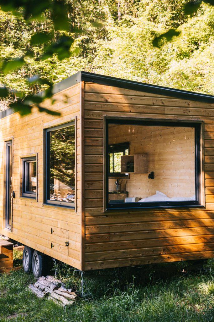 Dormir dans une Tiny House, hébergement insolite dans l'Aube. crédit photo : Clara Ferrand - blog Wildroad