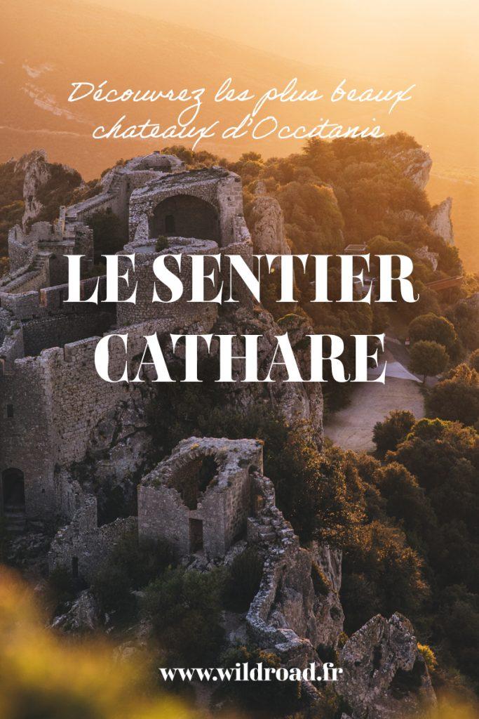 Le guide complet pour faire le sentier Cathare. Une randonnée itinérante en Occitane qui passe par de magnifiques châteaux et villages. crédit photo : Clara Ferrand - blog WIldroad #sentiercathare #GR367 #aude #occitanie #randonnéenefrance #france #lescorbières